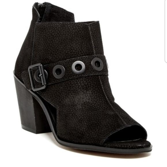 448759f598b Kelsi Dagger Shoes - Kelsi Dagger Peep Toe Grommet Ankle Bootie